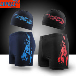 Men Swimwear Shorts Trunks And Cap