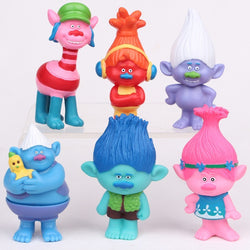 Trolls  6 Set 3 Inches Dreamworks Figure Collectible
