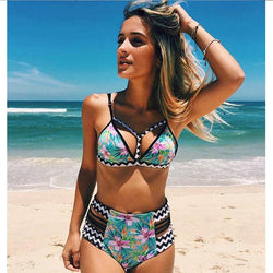 High Waist Swimsuit Push Up Swimwear
