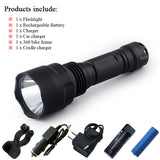 Tactical Led Flashlight 3000-3800 Lumen 1-5 Mode Cree Waterproof Torch Rechargeable Battery
