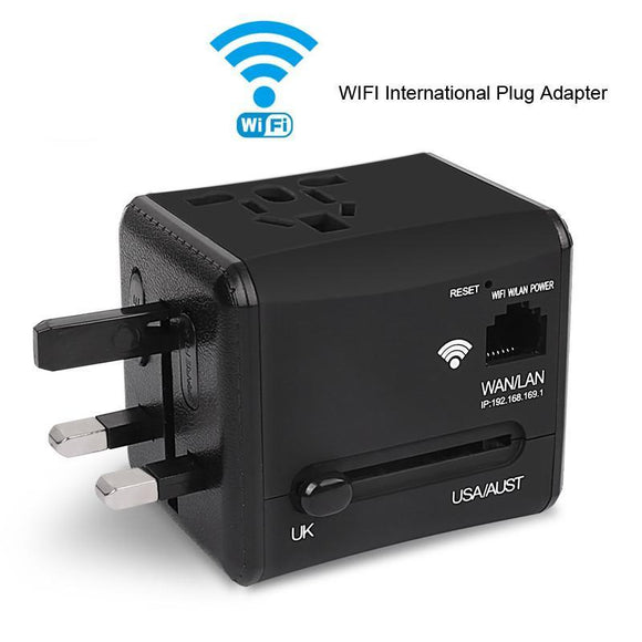 Universal Power Adapter + Phone Charger + WiFi Routrer