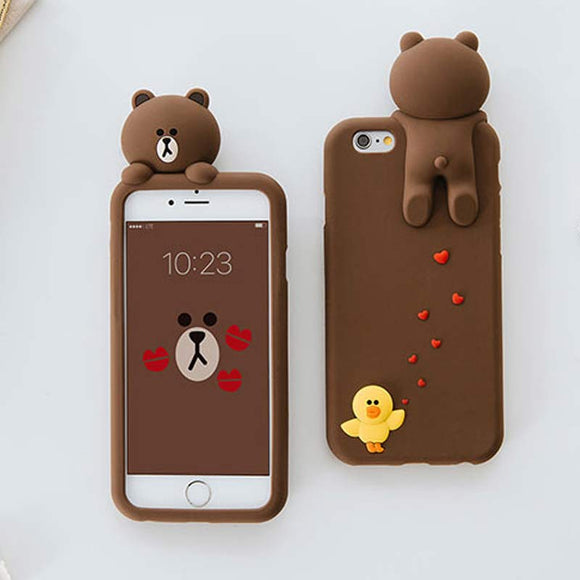 Brown Bear Silicon iPhone