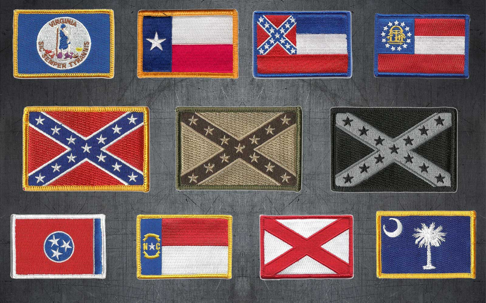Confederate Tactical Patches
