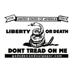 Gadsden and Culpeper Vinyl Sticker