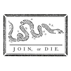 Join, Or Die. Vinyl Sticker