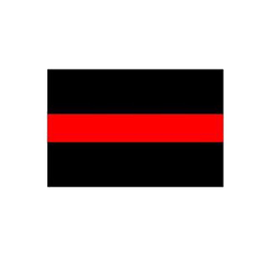 "Thin Red Line 4x8"" Sticker"