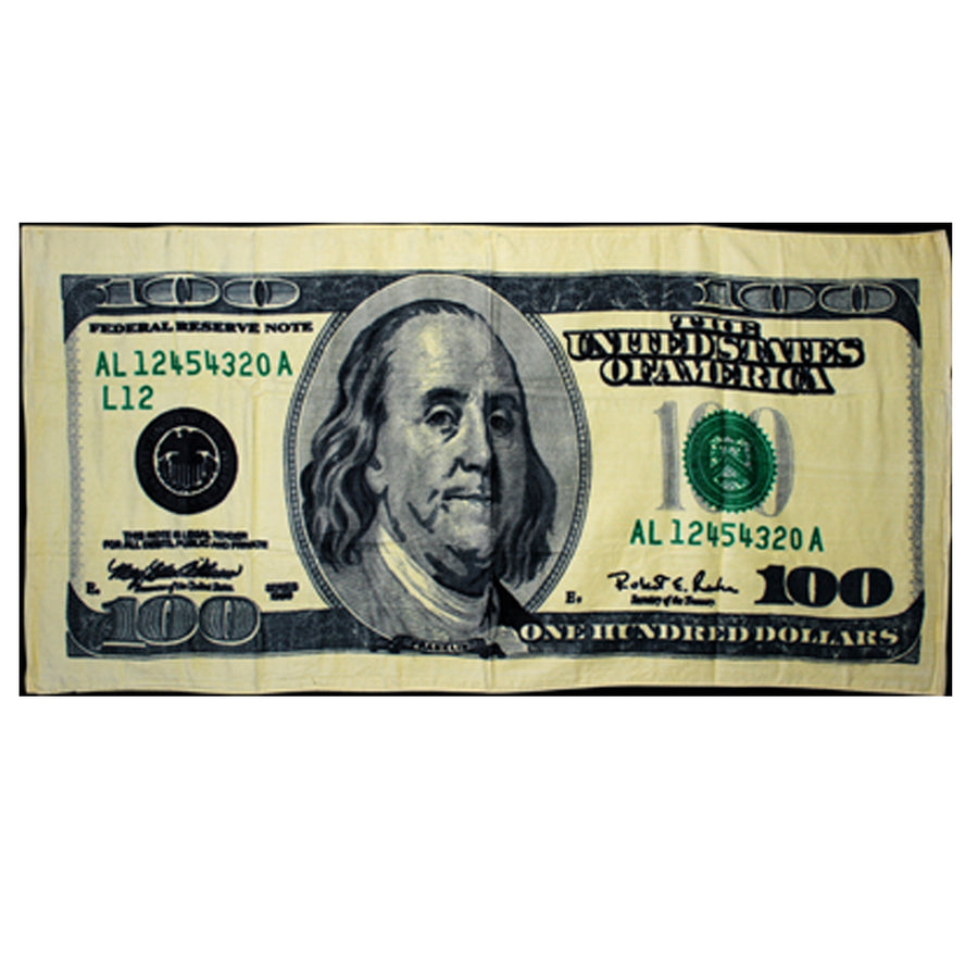 $100 Dollar Bill Beach Towel