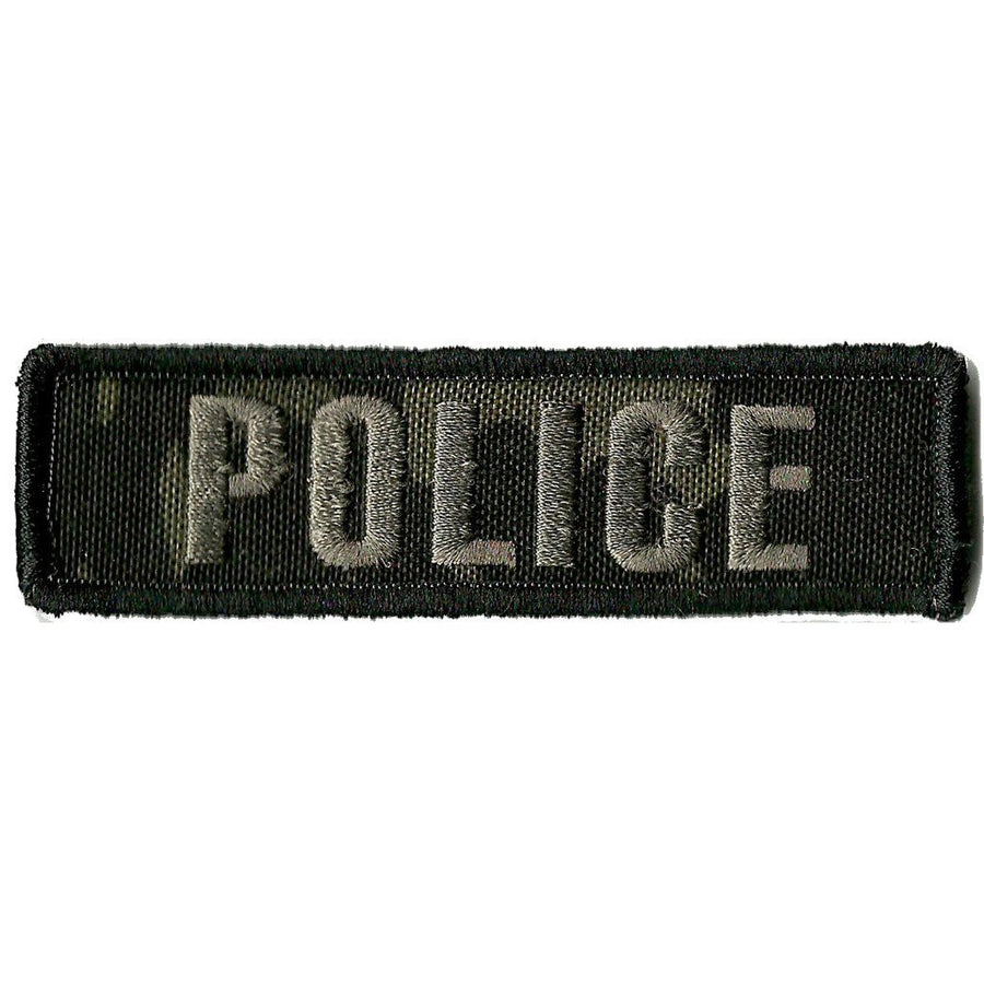 "MULTICAM-Black - Police Tactical Morale Patch - 1"" x 3 3/4"""