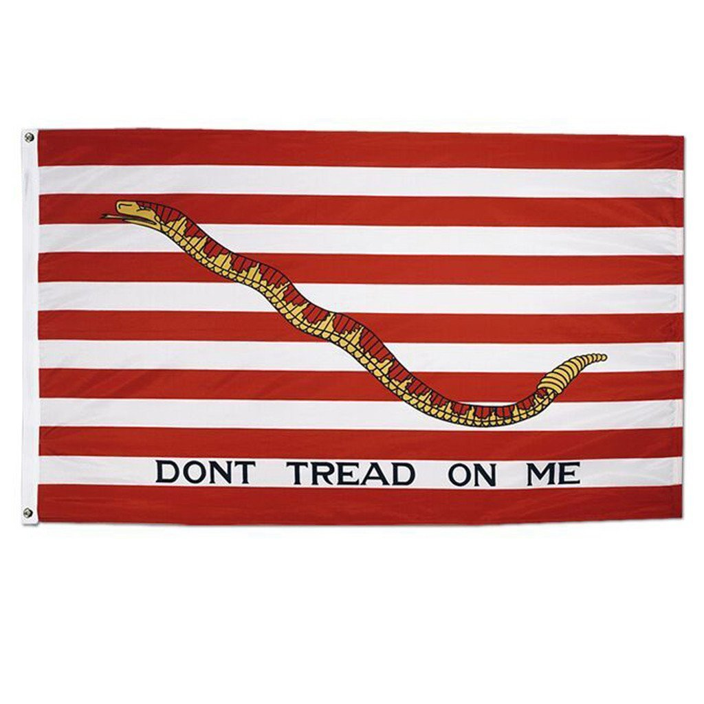 Dont Don/'t Tread On Me 3x5 3/'x5/' EMBROIDERED 2 double sided Flag USA SHIPPER