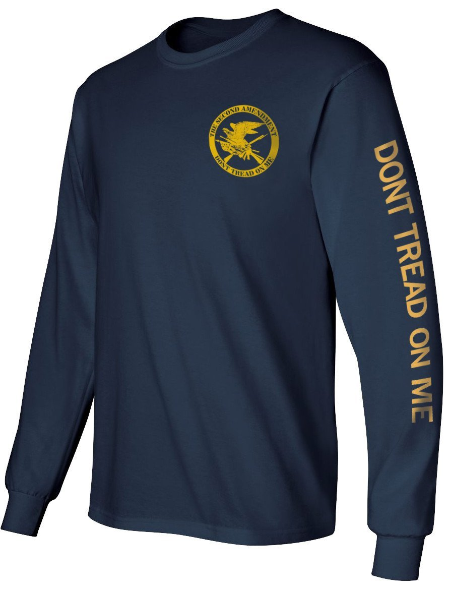 Right to Bear Arms Longsleeve T-Shirt - Blue and Gold