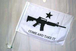 2nd Amendment M-4 Come and Take It Car Flag