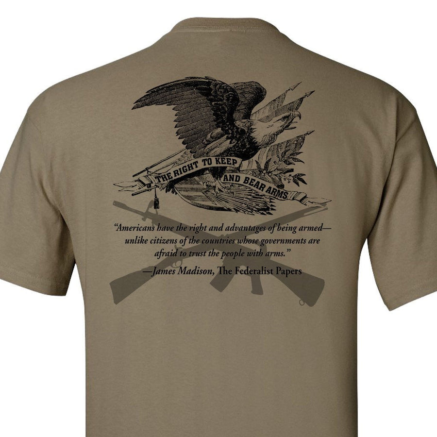 The Right To Bear Arms Coyote Tan T-Shirt
