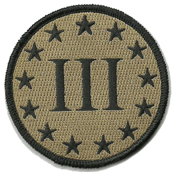 Three Percenter Circle Shoulder Patch