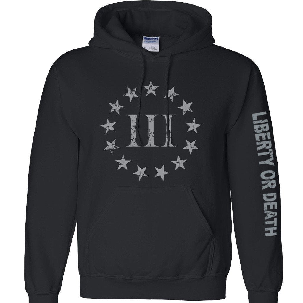 Black Three Percenter Hoody