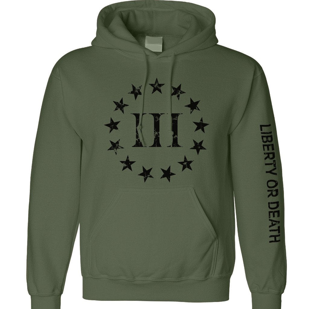 Military Green Three Percenter Hoody