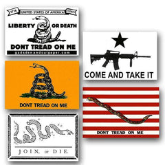 Don't Tread On Me 5-Sticker set - Vinyl
