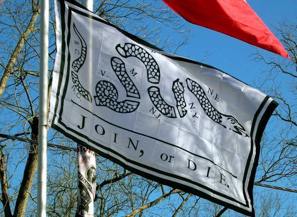3x5 ft Join or Die Super-Poly Flag