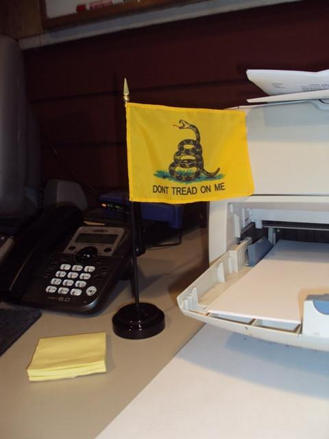 Gadsden Desk Flag Set
