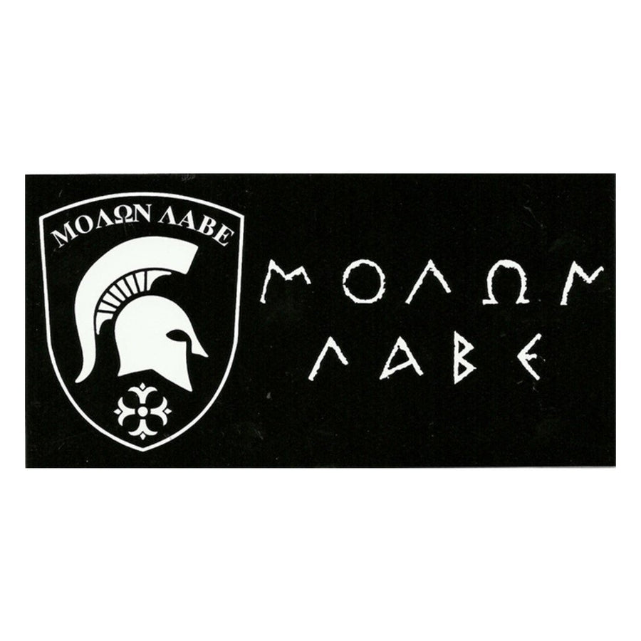 Black Molon Labe Vinyl Bumper Sticker