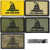 Gadsden Flag Shoulder Patch - Iron-On