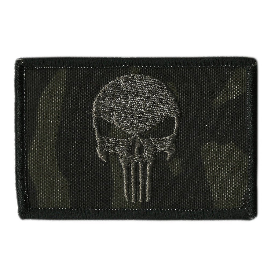 "MULTICAM-Black - Punisher Tactical Patch - 2"" x 3"""