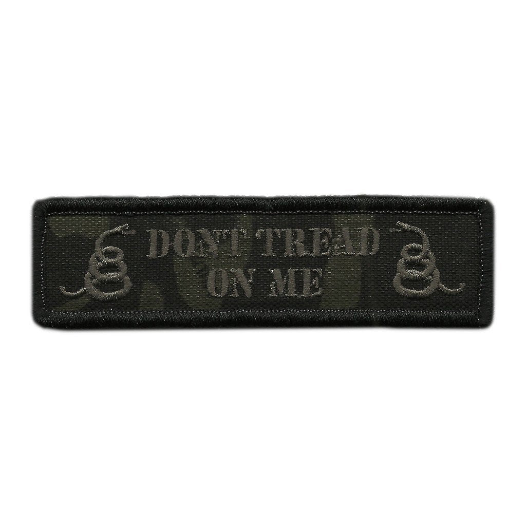 "MULTICAM-Black - Dont Tread Morale Patch - 1"" x 3 3/4"""
