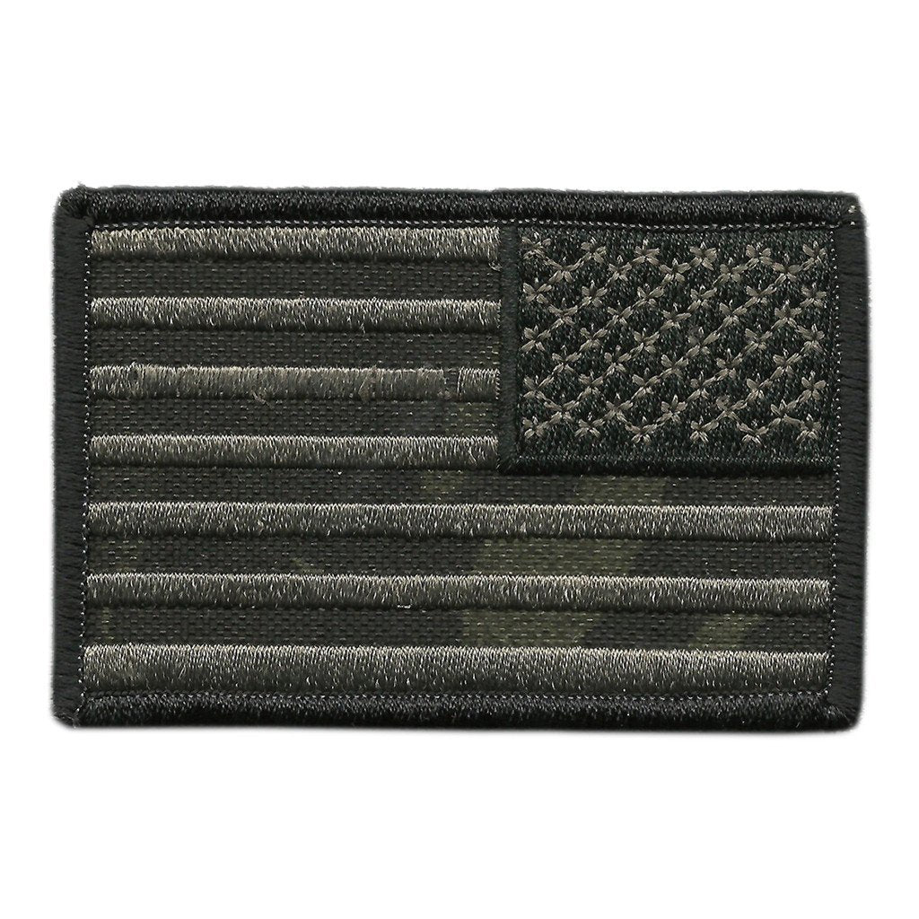 "MULTICAM-Black - Reverse USA Shoulder Patch - 2 1/4"" x 3 1/2"""