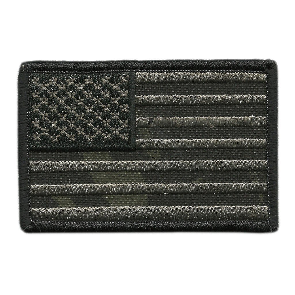 "MULTICAM-Black - USA Shoulder Patch - 2 1/4"" x 3 1/2"""