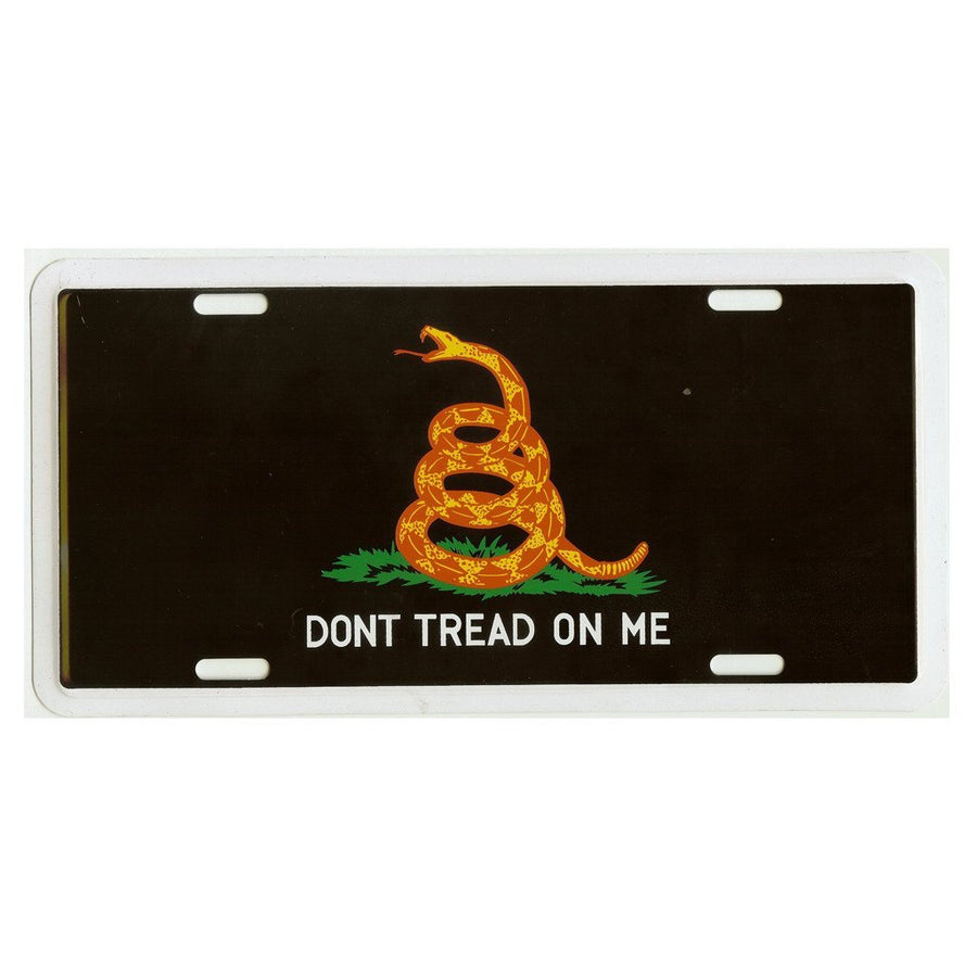 Hot Rod Don't Tread On Me License Plate