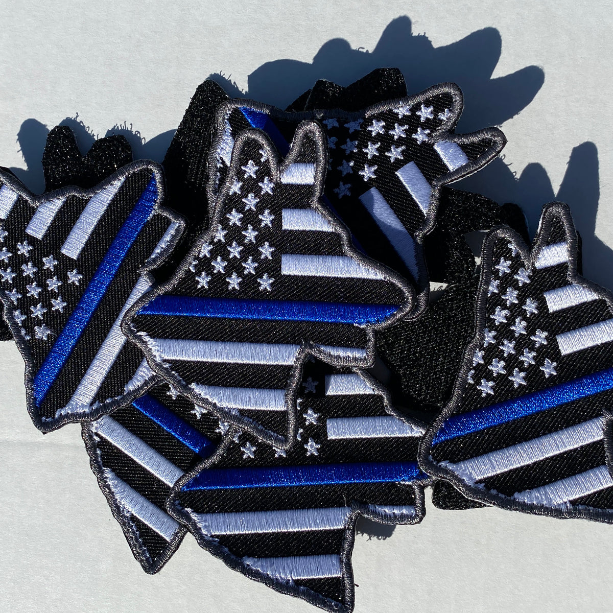 K-9 USA Thin Blue Line Flag Patch