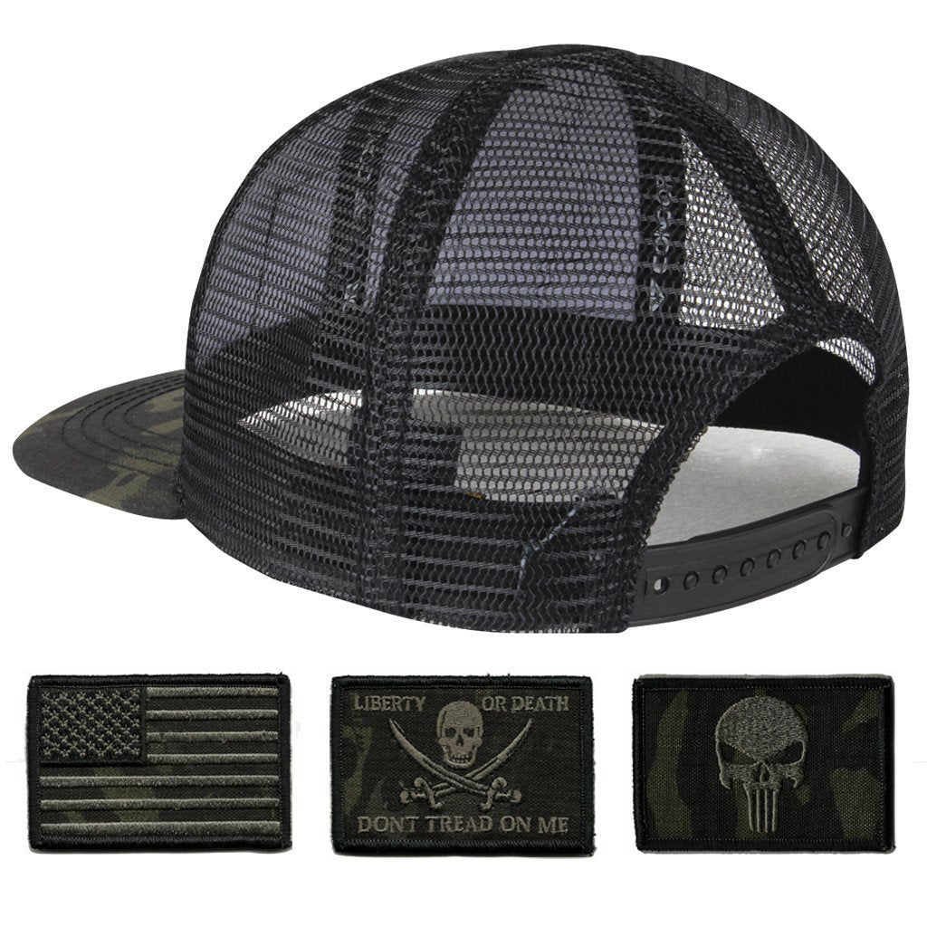 96d69750a Trucker Mesh Tactical Caps - MULTICAM-Black