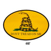 Yellow Gadsden Oval Sticker