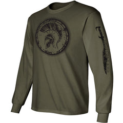 Olive Drab Molon Labe Longsleeve T