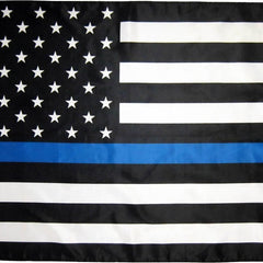 3x5 ft USA Thin Blue Line Super-Poly Flag