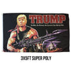 Trump Rambo 3x5 Super Poly Flag