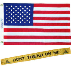 "Gadsden DTOM 45"" Streamer & 3x5 Embroidered USA Flag Combo"