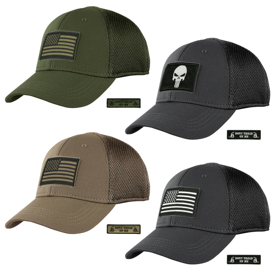 Build Your MESH-BACK Fitted Tactical Cap