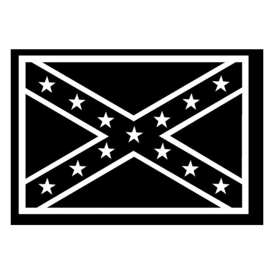 "Confederate Flag - 4""x6"" Vinyl - White"
