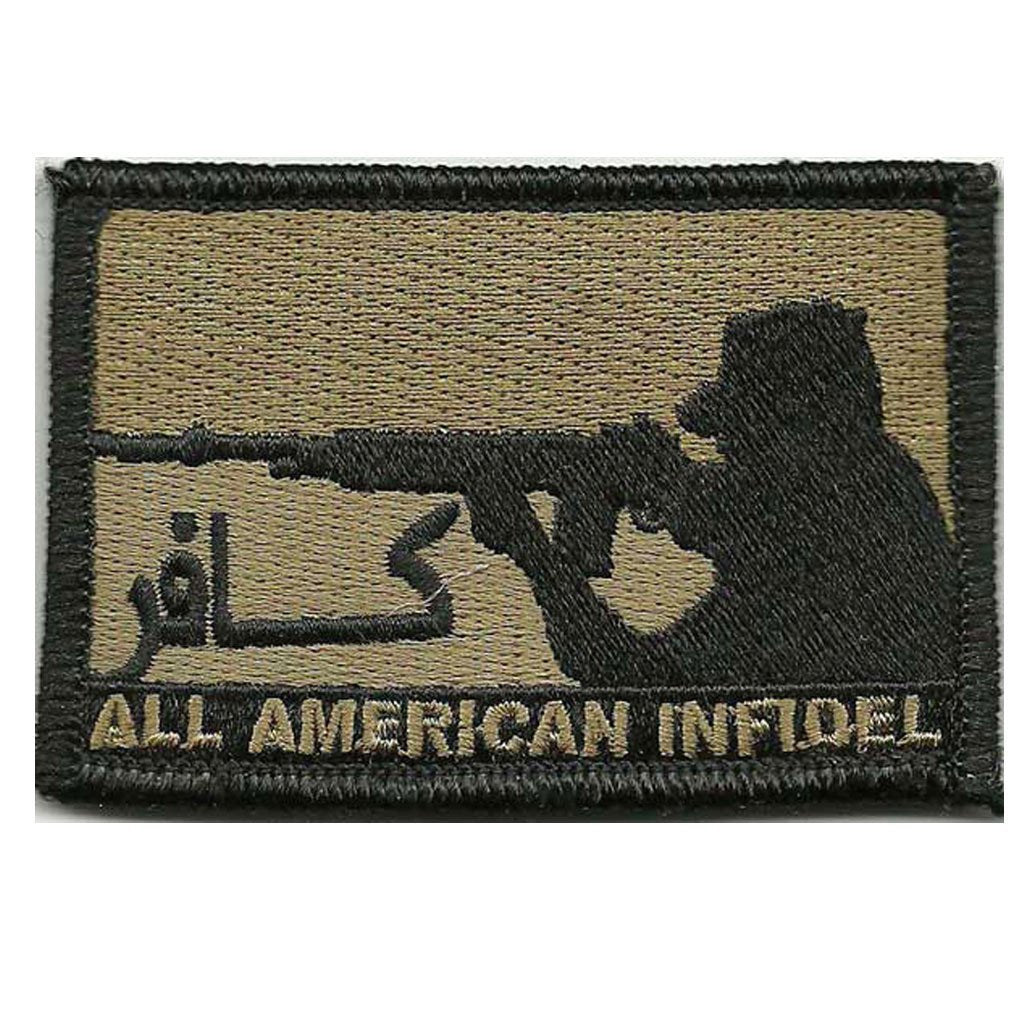 "2""x 3"" All American Infidel Patches"