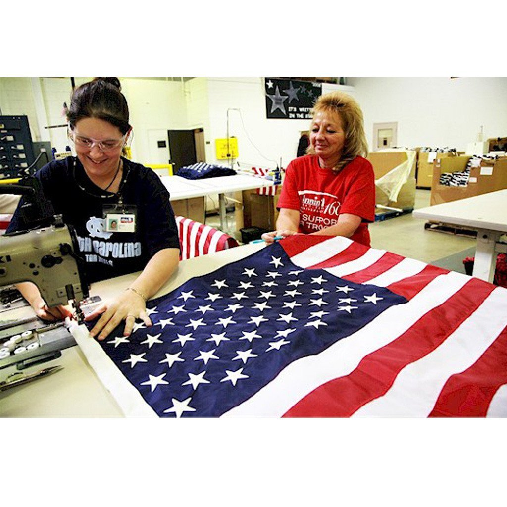 50 Star USA Embroidered Flag - Nylon - Annin Co. 5 Sizes Available