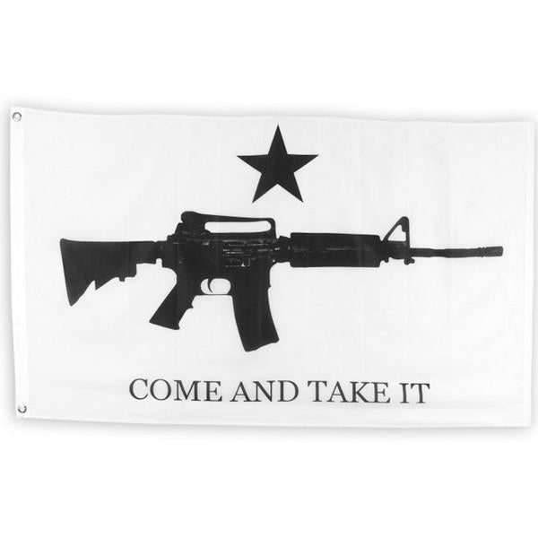 "12"" x 18""  M4 Come and Take It Super-Poly Flag"