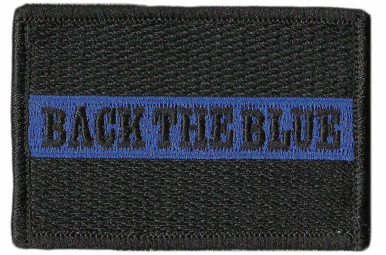 "2""x3"" Back The Blue Tactical Patch"