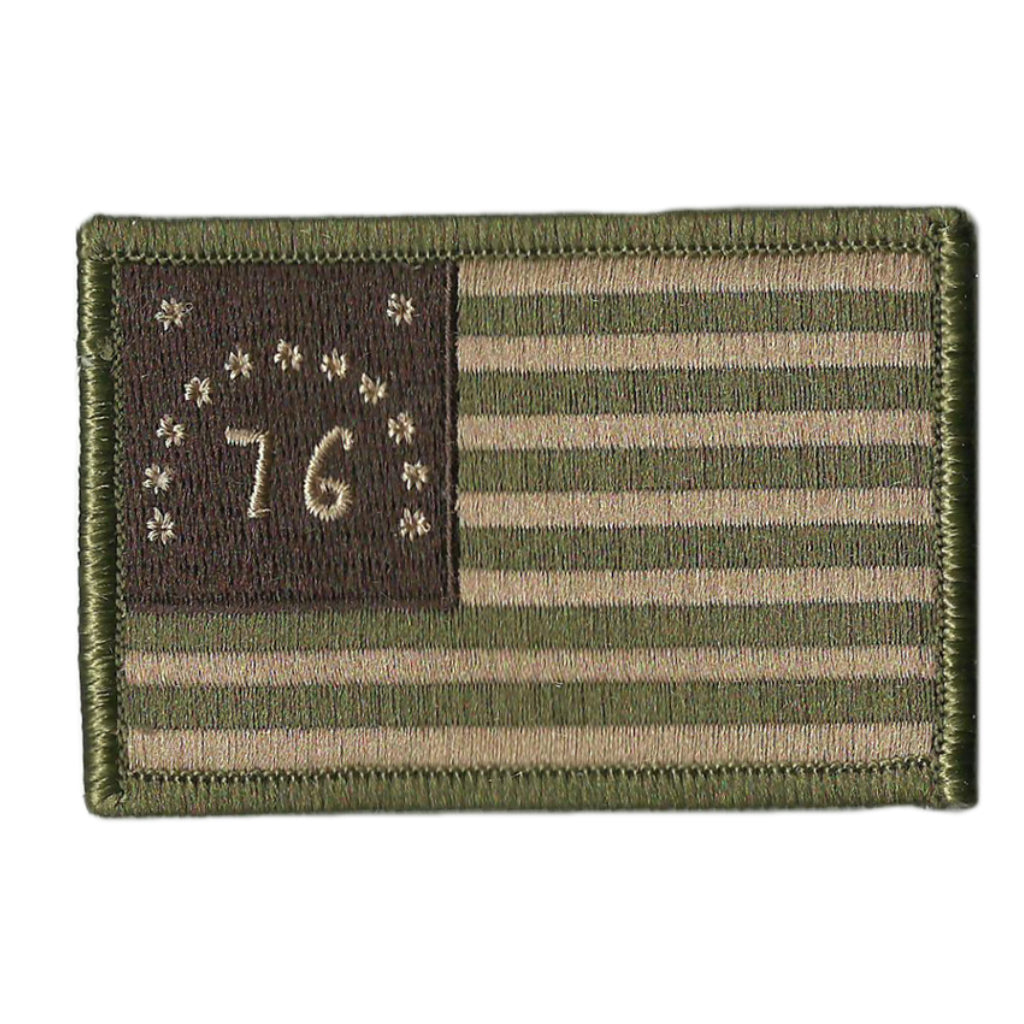 Backpacks Tactical Bags Jackets US Bennington 76 Flags Personality Tactical PVC Hook Patch,Suitable for Military Clothes GentleGirl.USA American Bennington 76 Flags Patch with Velcro Hats