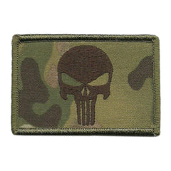 "MULTICAM - Punisher Tactical Patch - 2"" x 3"""