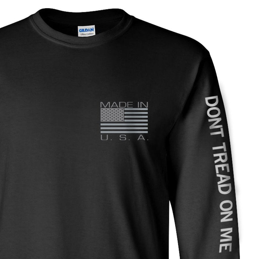 Made in USA Vertical Longsleeve - Black