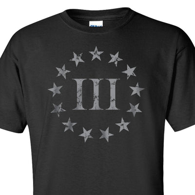 Three Percenter Front Print - Black