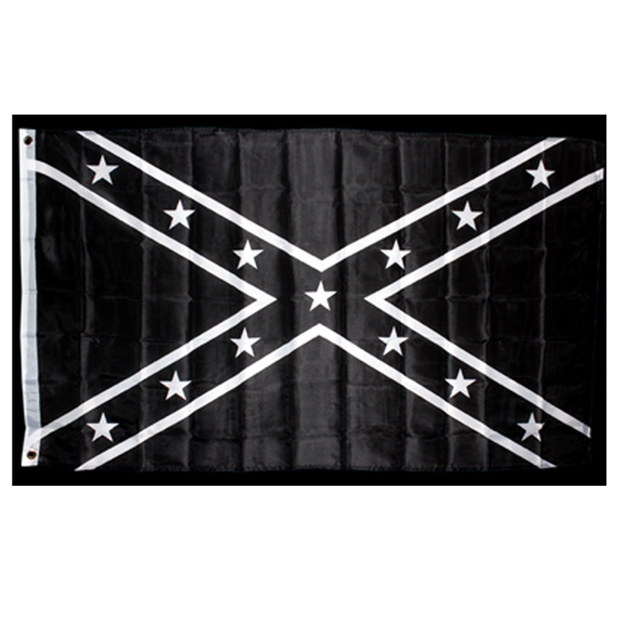 3x5 ft Black Confederate Super-Poly Flag