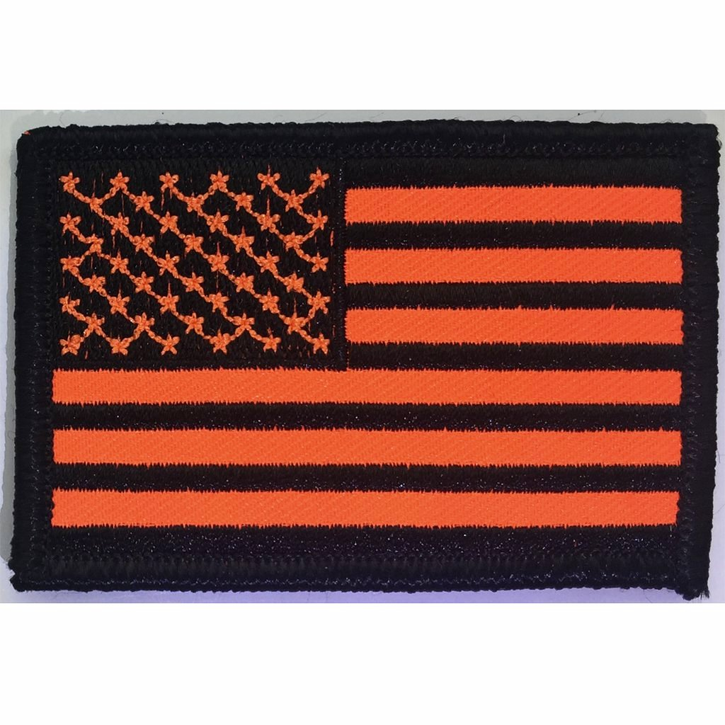 "2""x3"" Tactical USA Patch - Blaze Orange"