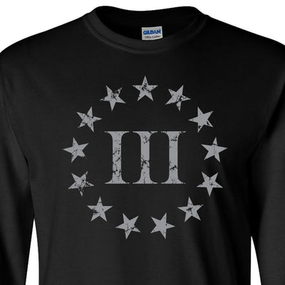 Black Three Percenter LongSleeve T