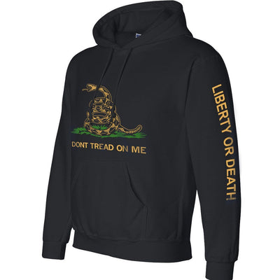 Black Gadsden Heavyweight Hoody
